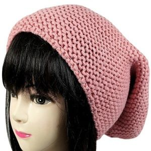 Unisex Knit Slouch Beanie
